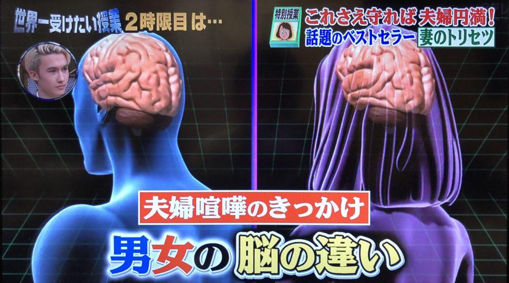 夫婦喧嘩のきっかけ男女の脳の違い