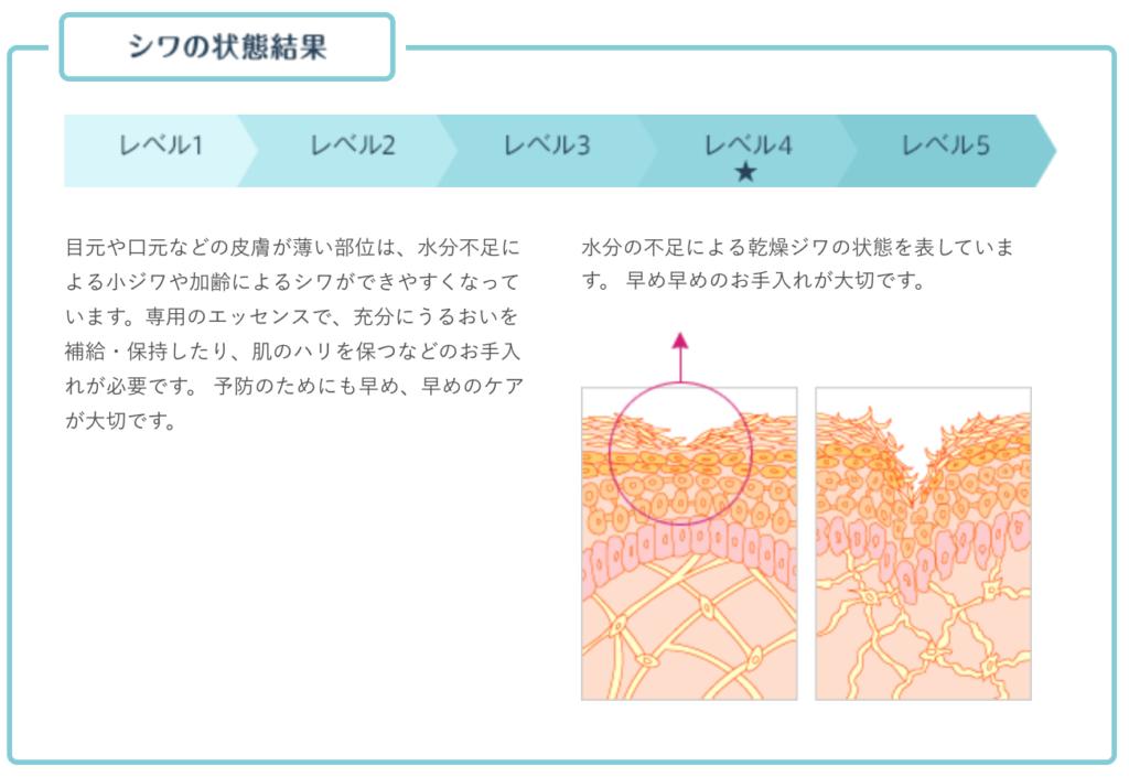 【オルビス】無料スキンチェック分析結果イメージ③