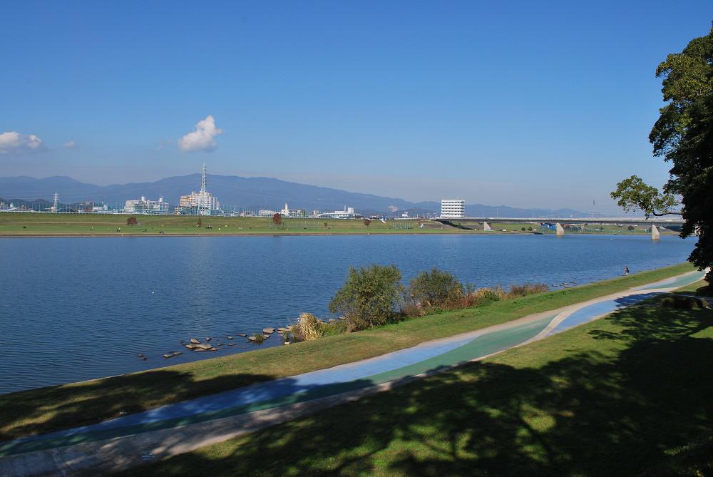福岡水天宮 周囲の景観 筑後川