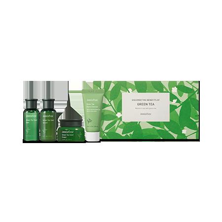 【イニスフリー】グリーンティースキンケア-トライアルセット-実際の化粧品