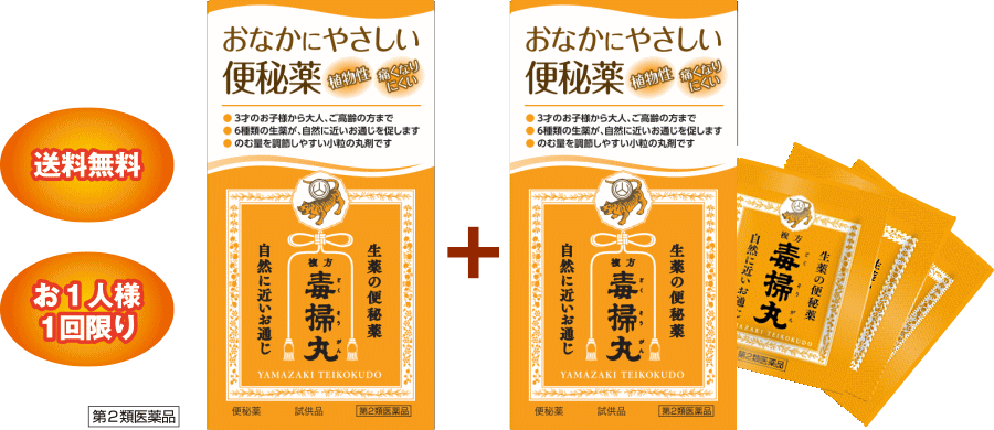 【山崎帝國堂】毒掃丸‐無料サンプル‐実際の商品