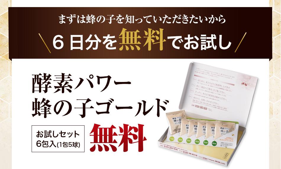 【山田養蜂場】蜂の子ゴールド‐お試しセット‐実際の商品