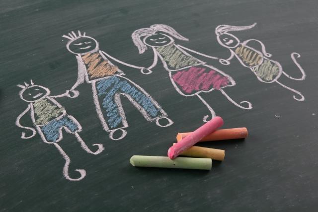 家族の描画_黒板