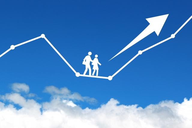 貯蓄を増やすライフチャートのイメージ
