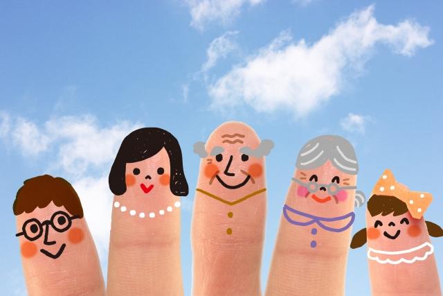 指人形の家族_円満イメージ